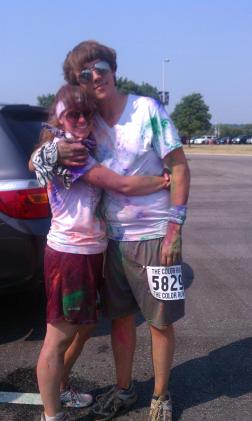After The Color Run, with T