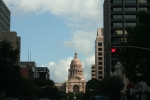 The capitol building in Austin, Texas, from downtown.