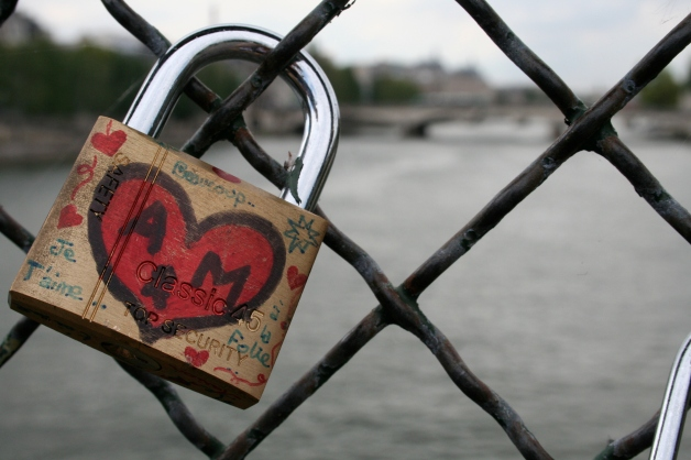 Love Lock at Le Pont Des Arts, by Elizabeth Ditty