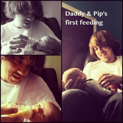 Dad's First Feeding