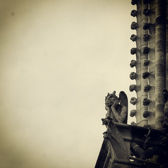 Gargoyle Overlooking Paris by Elizabeth Ditty