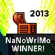 2013 NaNoWriMo Winner