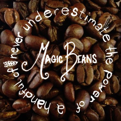 Never Underestimate Magic Beans - Coffee Art Print by ShireFurnishings on Etsy