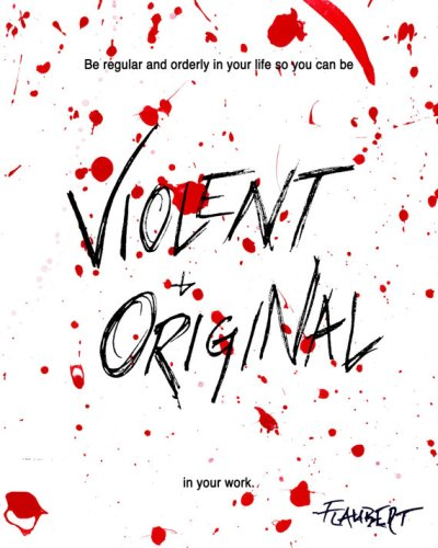Be Violent & Original in Your Work Spatter Art Print by ShireFurnishings on Etsy